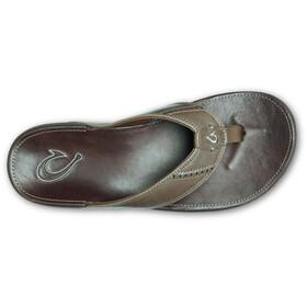 OluKai Nui Sandals Men mustang/espresso